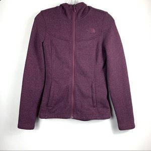 The North Face fleece Hooded Zip up Sweater
